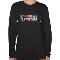 My Heart Belongs To A Wrestler T-shirt from Zazzle.com
