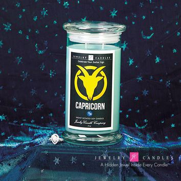 Capricorn Zodiac Sign Jewelry Candle (December 22 - January 19)