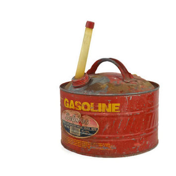 Vintage Delphos Red Gas Can Vintage Gas Can Industrial Decor