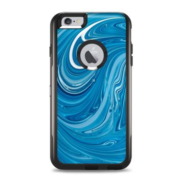 The Liquid Blue Color Fusion Apple iPhone 6 Plus Otterbox Commuter Case Skin