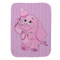 Baby Elephant Burp Cloths