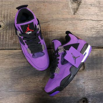 "Travis Scott x Air Jordan 4 ""PURPLE"" - Best Deal Online"