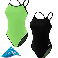 Sporti Neon Reversable Thin Strap Swimsuit at SwimOutlet.com