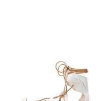 Fteroti Calfskin Leather Sandals in White