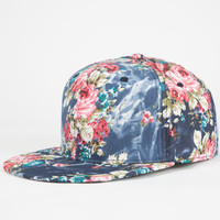 Floral Womens Snapback Hat Denim One Size For Women 25122680001