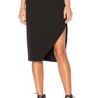 KENDALL + KYLIE Slit Midi Skirt in Black | REVOLVE