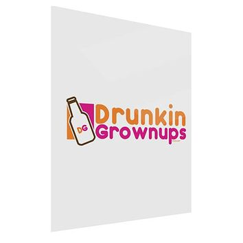 Drunken Grown ups Funny Drinking Gloss Poster Print Portrait - Choose Size by TooLoud