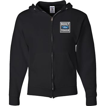 Built Ford Tough Full Zip Hoodie Pocket Print