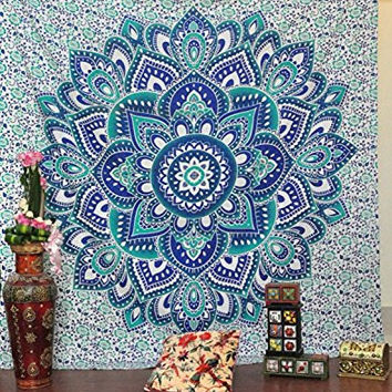 Jaipurhandloom Christmas Gift BIG Mandala Hippie Tapestry, Hippie Wall Hanging Tapestries, Bohemian Tapestries, Queen Mandala Home Decor