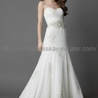 A line Ivory Beach Wedding Dress