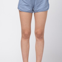 Blue Washed Out Tie Waist Shorts