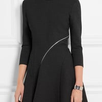 McQ Alexander McQueen - Zip-detailed stretch-jersey mini dress