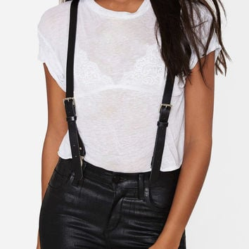 Womens Matte Suspenders