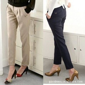 Straight Casual Maternity Pants Clothes For Pregnant Women Black Pencil Trousers Clothing For Pregnancy Wear 2015 New Fashion = 1946303556