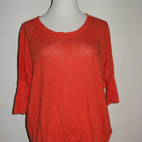 J Crew Linen Knit Drop Shoulder Swing Sweater Top XXS