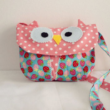 The little Owl Carry owl bag/purse/ toddler bag/girl's purse/owl bag/cross body bag/handbag/Birthday gift idea/gift for girls/Made to order