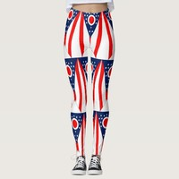 Leggings with flag of Ohio State, USA