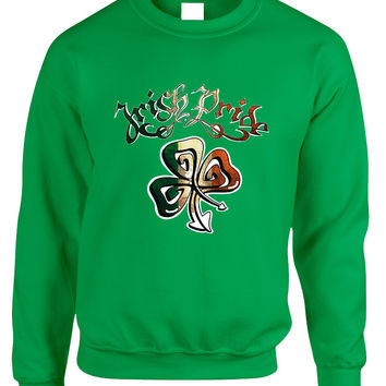 Adult Sweatshirt Irish Pride Shamrock St Patrick's Day Top