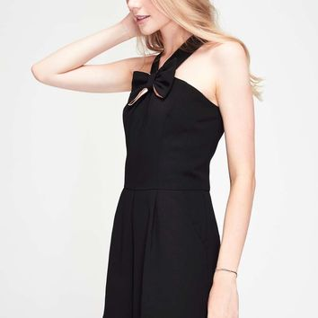 Black Bow Front Playsuit - Rompers & Jumpsuits - Apparel