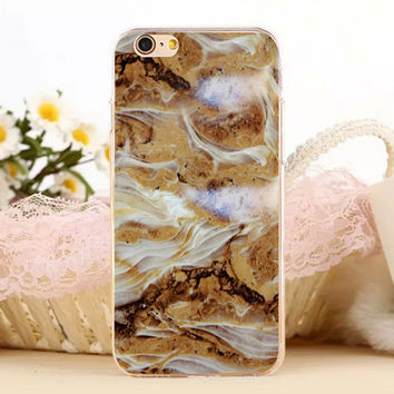 Natural Marble Stone Protect iPhone 5s 6 6s Plus Case + Gift Box-131