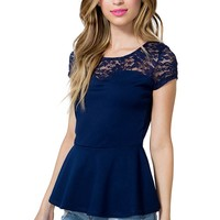 Lace in Grace Peplum