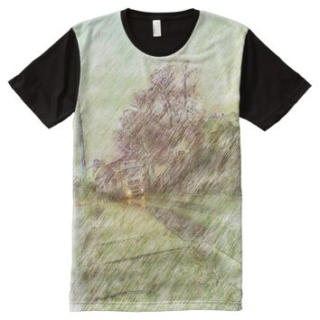 Vehicle drawing effect All-Over-Print T-Shirt