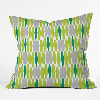 Heather Dutton Abacus Emerald Throw Pillow