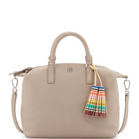 Small Slouchy Satchel Bag w/Tassel, French Gray