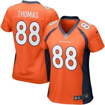 Girls Youth Denver Broncos Demaryius Thomas Nike Orange Game Jersey