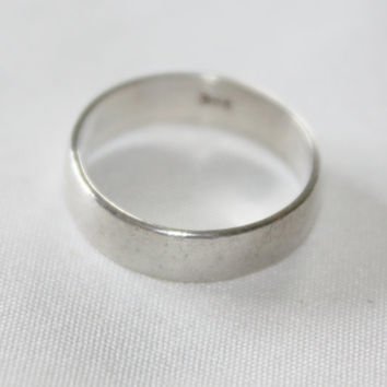 Sterling Ring Engagement Band 1960s Jewelry Wedding  Ring