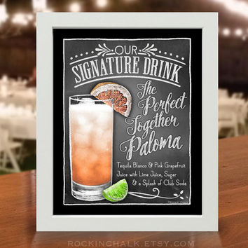 Wedding Decoration | Signature Drink Sign | As-Is or Personalized Wedding Keepsake | Perfect Together Paloma Drink Sign
