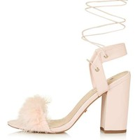 RUFFLE Feather Sandals - Going Out - Clothing