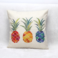 Pineapple Tropical Cushion Cover