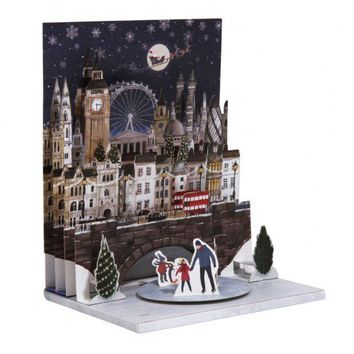 London scene musical pop-up Christmas card