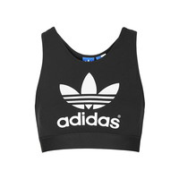 Trefoil Crop by Adidas Originals - Tops - Clothing