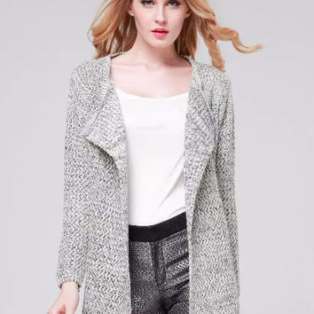 Long Sleeve Non Button Knitted Cardigan