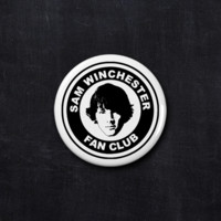 Sam Winchester fan club button