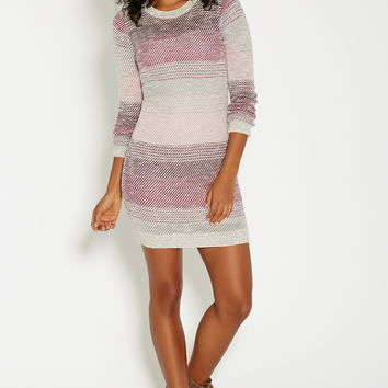 sweater dress with stripes