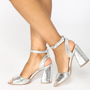 Pray For Glam Heel - Silver