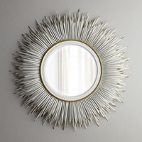 Janice Minor White Porcupine Quill Mirror