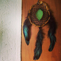 Fairy Dream Catcher with Leaf // Boho Hippie Home Apartment Room Decor