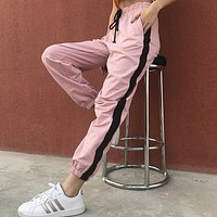 Summer Casual Fashion Multicolor Sweatpants Women High Waist Leisure Pants Trousers