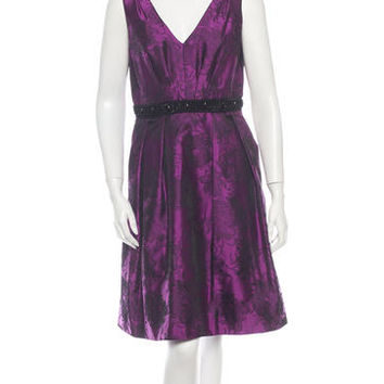 Carmen Marc Valvo Jacquard Dress w/ Tags