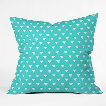 Bianca Green Geometric Confetti Teal Throw Pillow