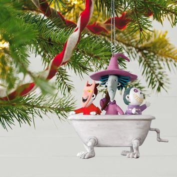 Tim Burton's The Nightmare Before Christmas Lock, Shock and Barrel Musical Ornament