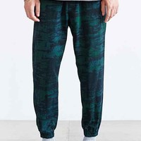 Shades Of Grey By Micah Cohen Emerald Print Twill Jogger Pant- Green Multi