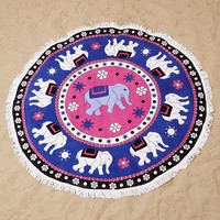 South Beach London Elephant Graphic Bath Towel