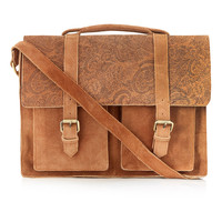 PAISELY SUEDE SATCHEL - Bags & Wallets - Accessories - TOPMAN