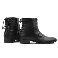Laced Back Pointed Boots