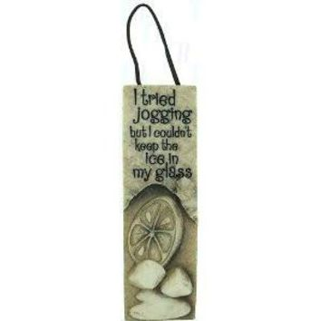 Slim Plaques with Leather Hanger- Jogging
